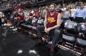 Kevin Love on Bench