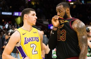 Lonzo Ball and LeBron James