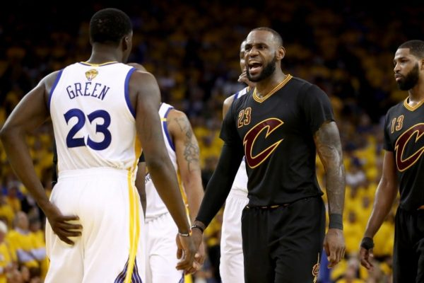 Draymond Green and LeBron James Cavs Warriors