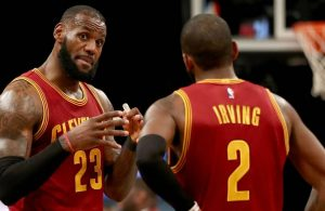 LeBron James and Kyrie Irving Cavs