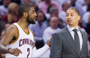 Kyrie Irving and Tyronn Lue Cavs