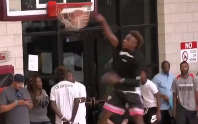 180fe1acc81 Video  LeBron James Jr. Gets His First Dunk at Age 13