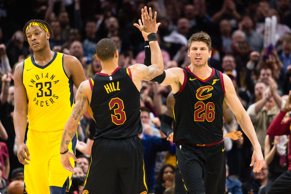 George Hill and Kyle Korver Cavs