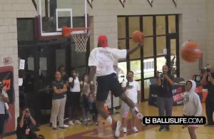 LeBron James Dunking AAU