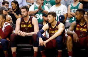 George Hill, Kevin Love, Kyle Korver, J.R. Smith