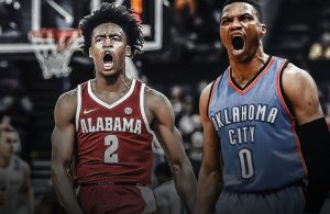 Collin Sexton and Russell Westbrook