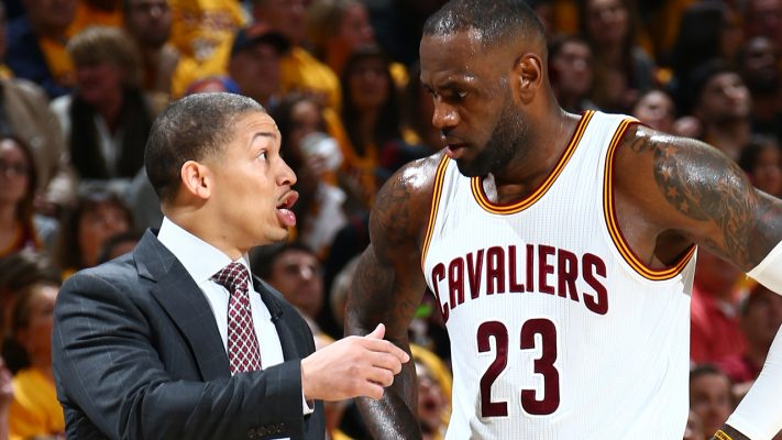 Tyronn Lue and LeBron James