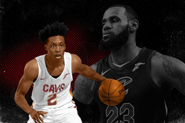Collin Sexton and LeBron James