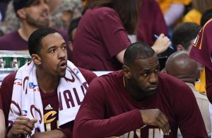 Channing Frye and LeBron James Cavs