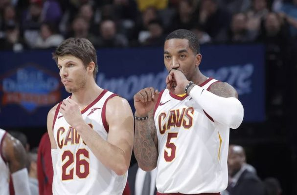 Kyle Korver and J.R. Smith Cavs