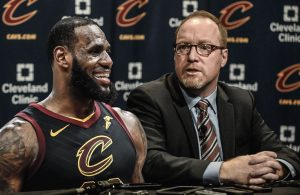 LeBron James and David Griffin Cavs