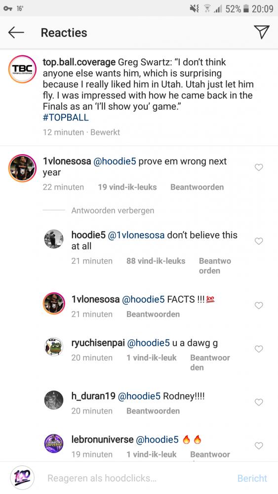 Rodney Hood Social Media
