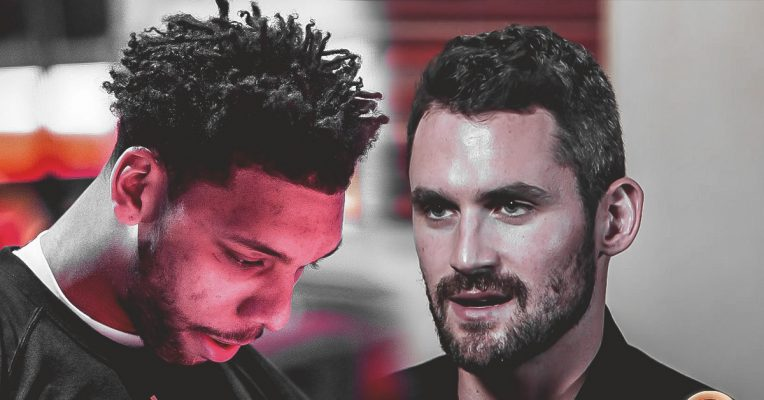 Jahlil Okafor and Kevin Love Cavs