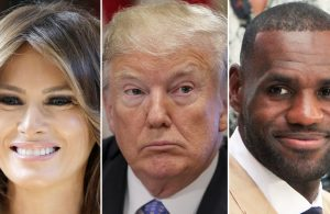 Melania Trump, Donald Trump, and LeBron James