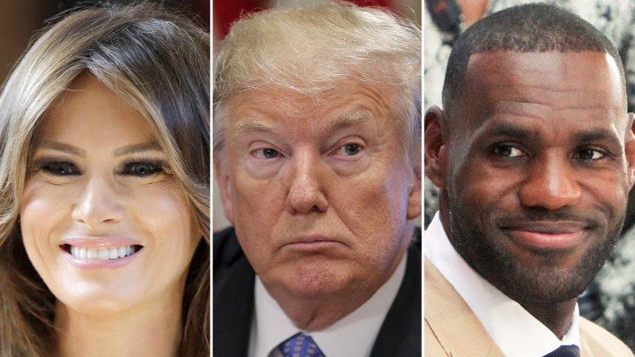 Melania Trump, Donald Trump, and LeBron James