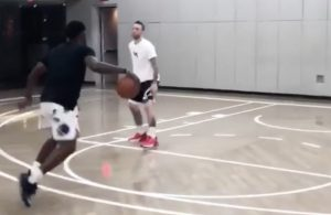 J.R. Smith Training With Chris Brickley