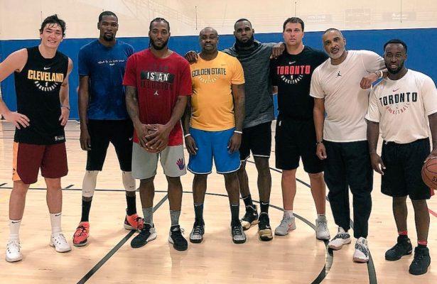 Cedi Osman, Kevin Durant, Kawhi Leonard, and LeBron James