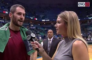 Allie Clifton and Kevin Love