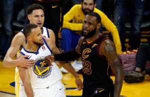 LeBron Talking Trash to Steph Curry