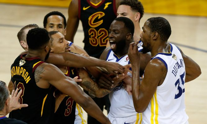 Tristan Thompson and Draymond Green