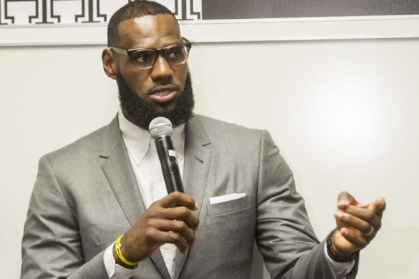 LeBron James in a Suit