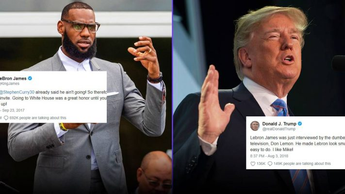 Donald Trump takes shot at LeBron James in late-night tweet