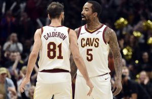 Jose Calderon and J.R. Smith Cavs