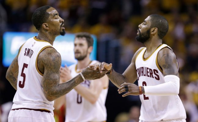 J.R. Smith and Kyrie Irving Cavs