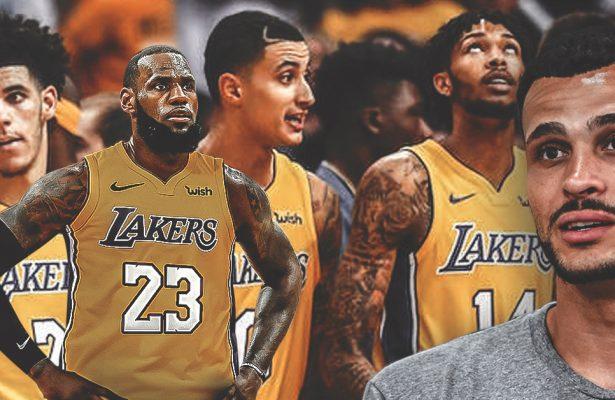 Larry Nance Jr. and LeBron James Lakers
