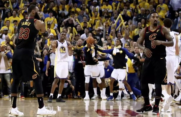 LeBron James and J.R. Smith Game 1 NBA Finals