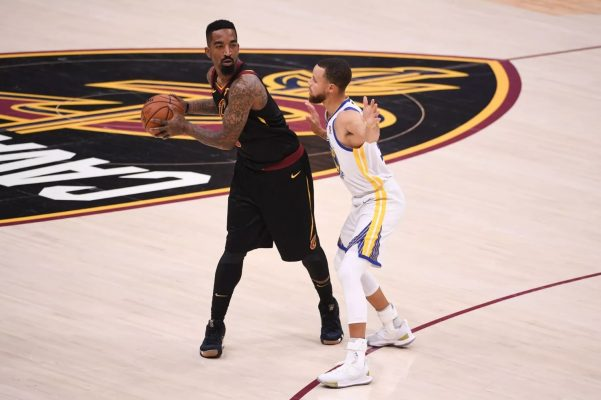 J.R. Smith and Stephen Curry Warriors