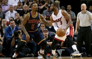 J.R. Smith and Dwyane Wade Cavs Heat