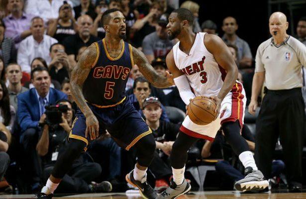 J.R. Smith and Dwyane Wade Cavs Heat
