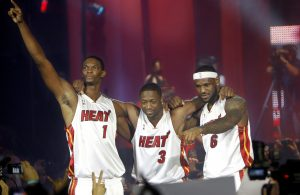 Chris Bosh, Dwyane Wade, and LeBron James
