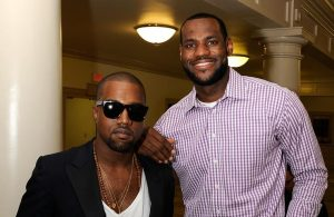 Kanye West and LeBron James