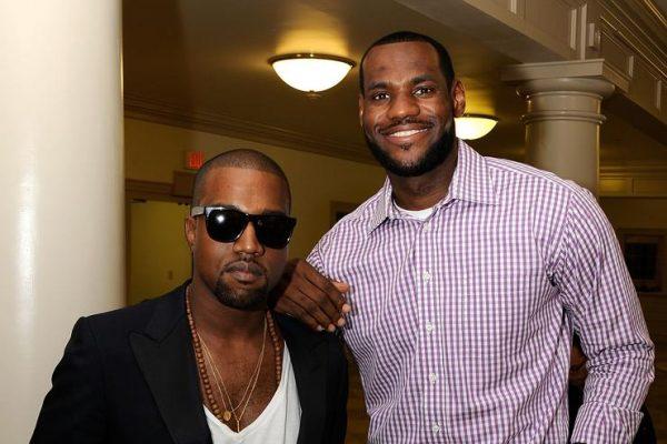 Kanye West and LeBron James