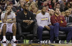 J.R. Smith, LeBron James, Tristan Thompson, Kevin Love