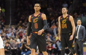 Jordan Clarkson and Larry Nance Cavs
