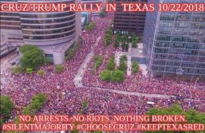 Ted Cruz and Donald Trump Rally