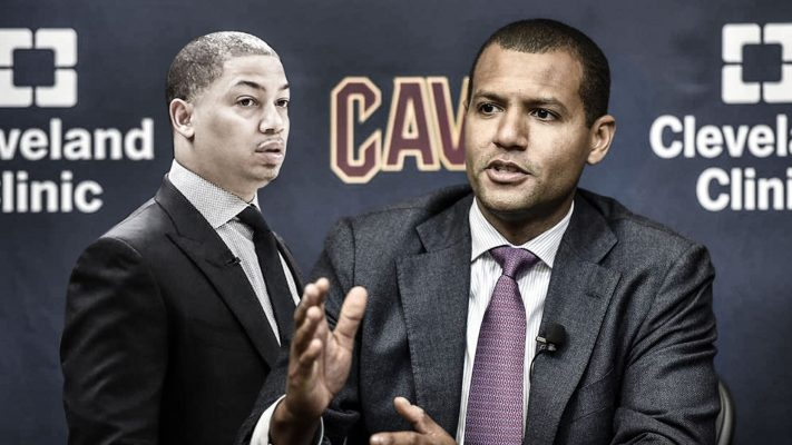 Tyronn Lue and Koby Altman