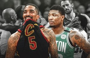 Marcus Smart and J.R. Smith Altercation