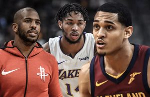 Chris Paul, Brandon Ingram, and Jordan Clarkson