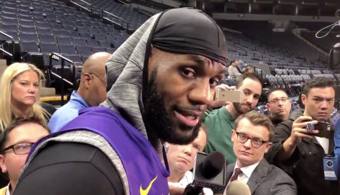 LeBron James Lakers Interview