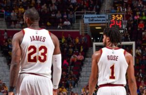 LeBron James and Derrick Rose