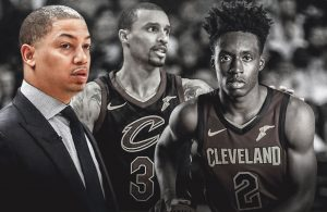Tyronn Lue, George Hill, and Collin Sexton