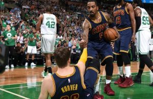 Kyle Korver and J.R. Smith
