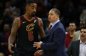 J.R. Smith and Tyronn Lue Cavs