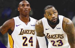 Kobe Bryant and LeBron James Lakers