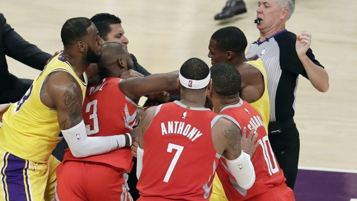 Los Angeles Lakers and Houston Rockets Brawl