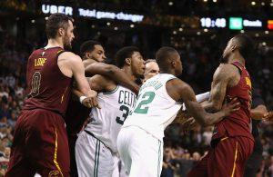 Cleveland Cavaliers and Boston Celtics